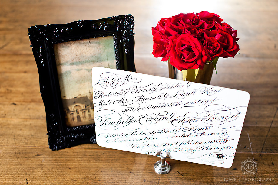 Sweet peony press rose and invite