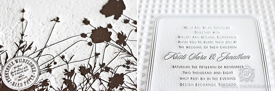 Upclose sweet peony press invitations
