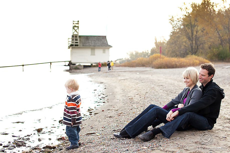 family on beach cherry beach toronto