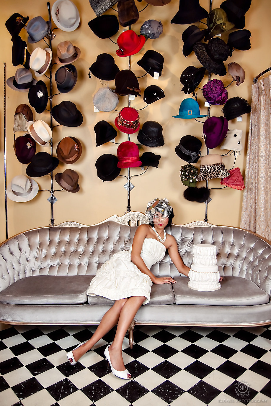 cabaret, hats, model, wedding cakes