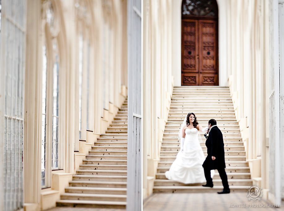 bride and groom on staircase hluboka castle Prague, Czech Republic Wedding Hluboka Castle