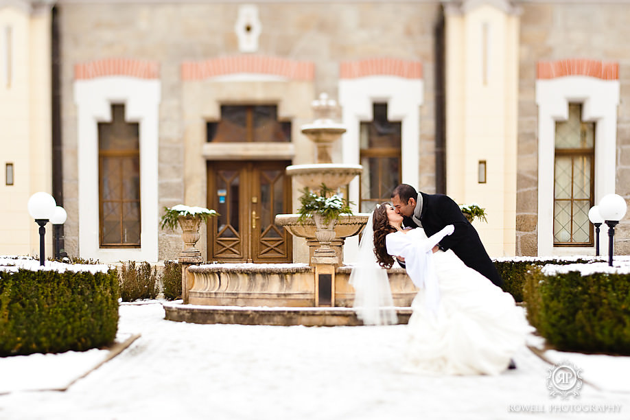 bride and groom winter wedding hluboka castle czech republic Prague, Czech Republic Wedding Hluboka Castle
