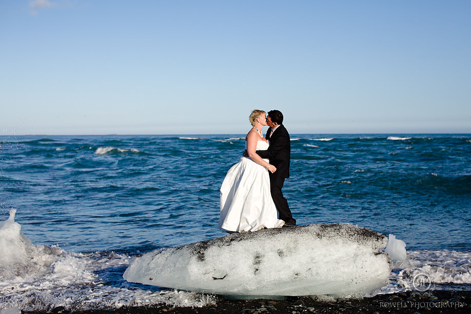 couple on an iceberg honeymoon iceland Destination Iceland Honeymoon