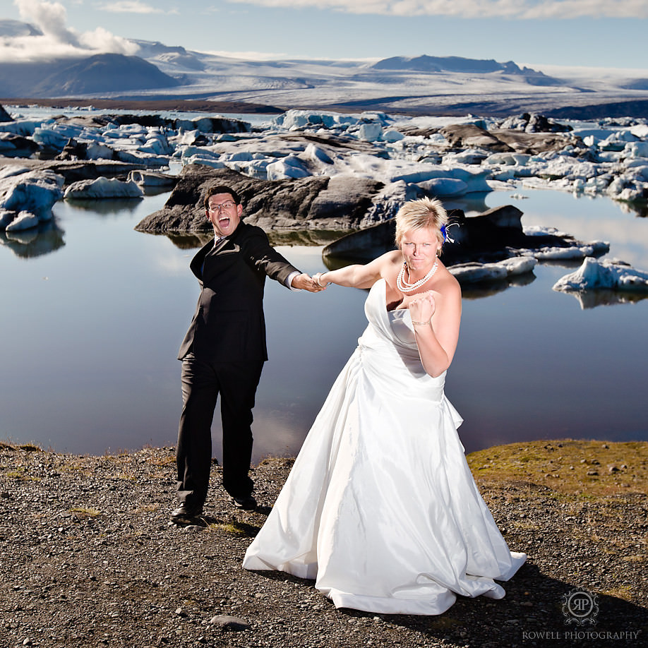 funny couples shot iceland Destination Iceland Honeymoon