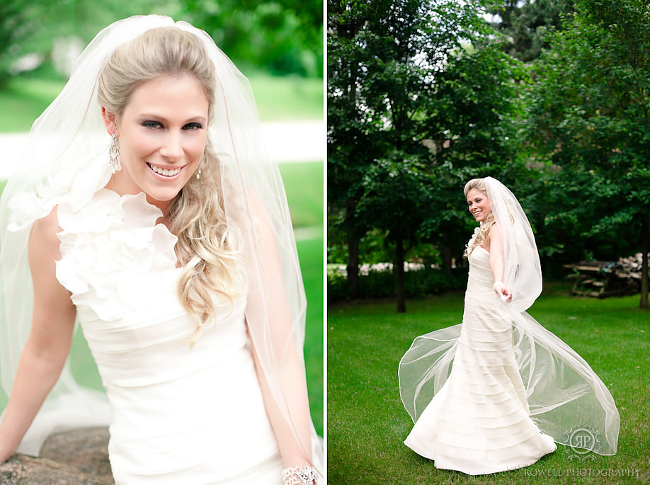 beautiful bridal portraits Blue Mountain Resort Wedding   Collingwood, ON