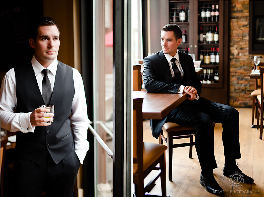 best groom wedding portraits Blue Mountain Resort Wedding   Collingwood, ON