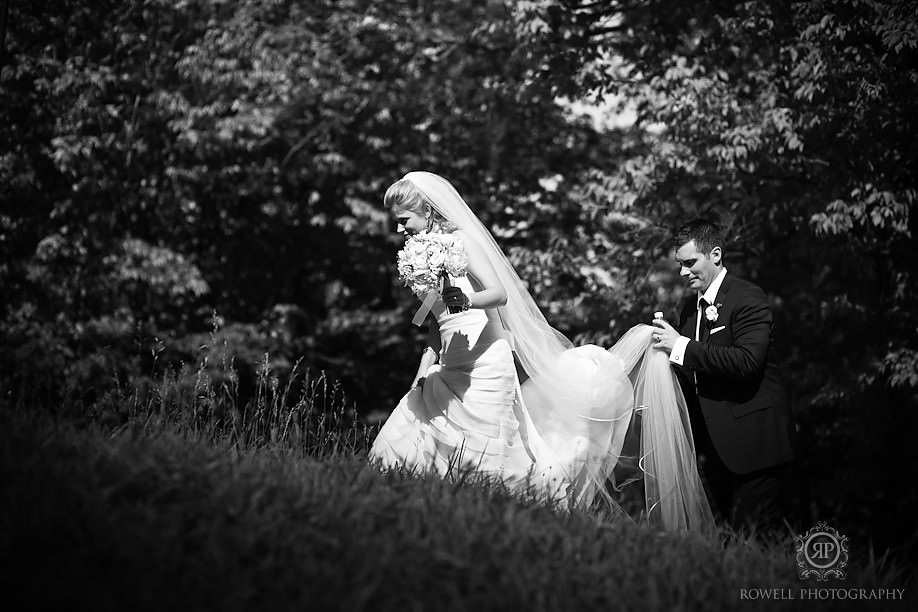 romantic black and whte wedding photography Blue Mountain Resort Wedding   Collingwood, ON