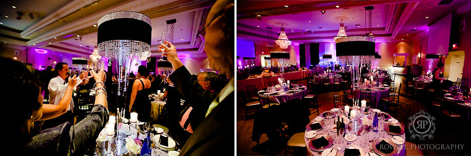 best wedding reception table shots Paul & Leanna at Glendon Hall & The Royalton   Toronto Wedding