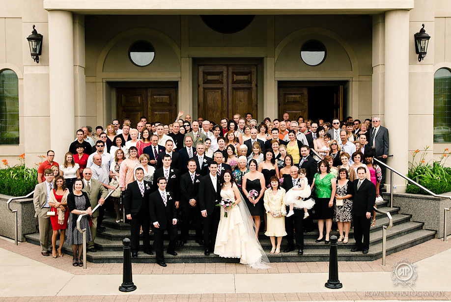 wedding group shot Paul & Leanna at Glendon Hall & The Royalton   Toronto Wedding