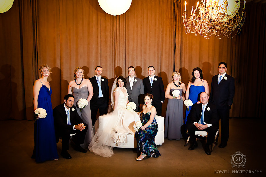 best bridal party portraits Melissa & Rob at The Berkeley Church   Toronto Wedding