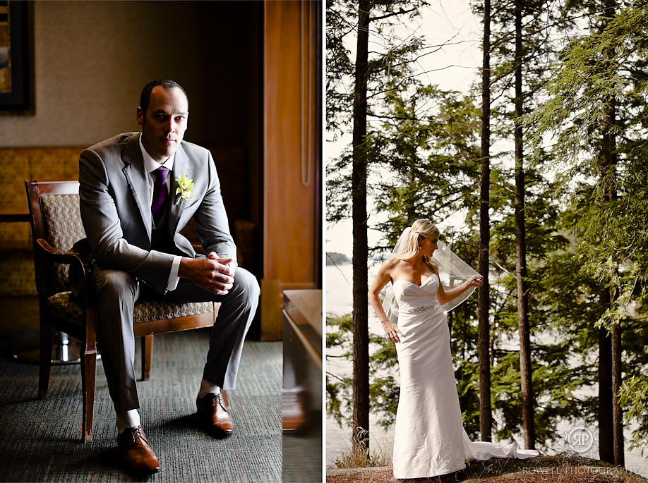 bride and groom wedding photos1 Alison & Dan   Taboo Resort Wedding, Muskoka