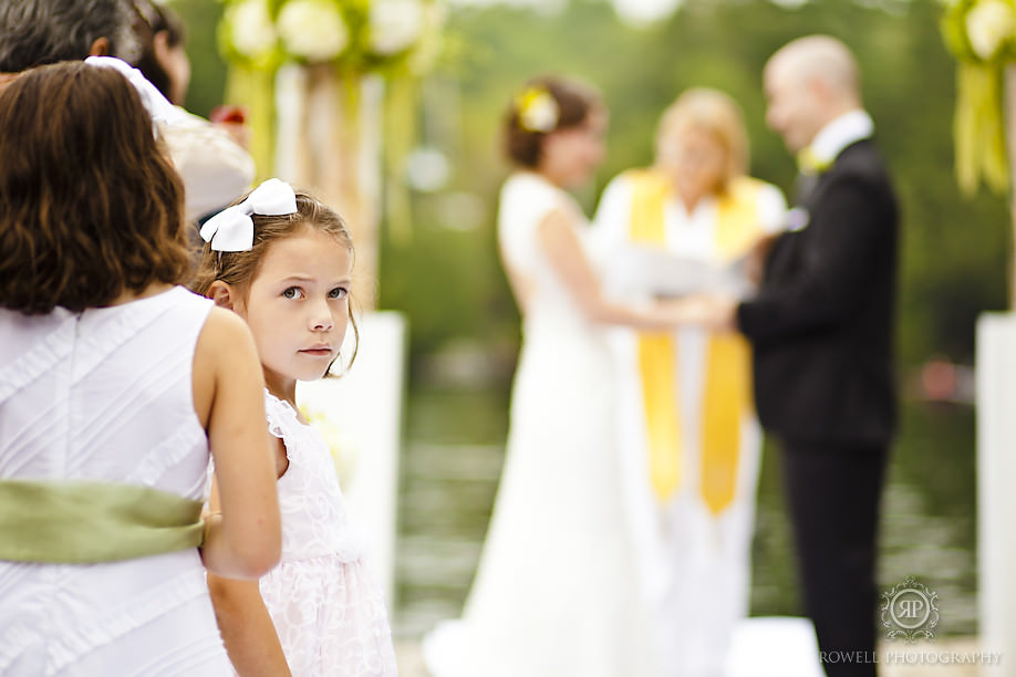adorable flower girls delta rocky crest Natalie & Phil   Delta Rocky Crest Resort   Muskoka, ON