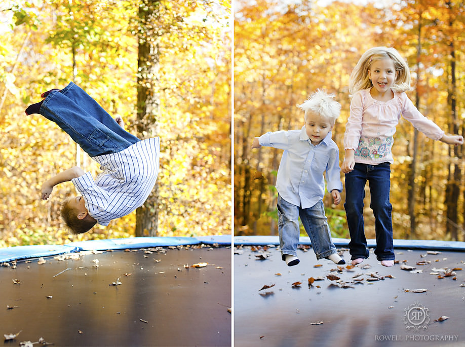 kids on a trampoline photo shoot 2 The Ferguson Family   Severn, ON