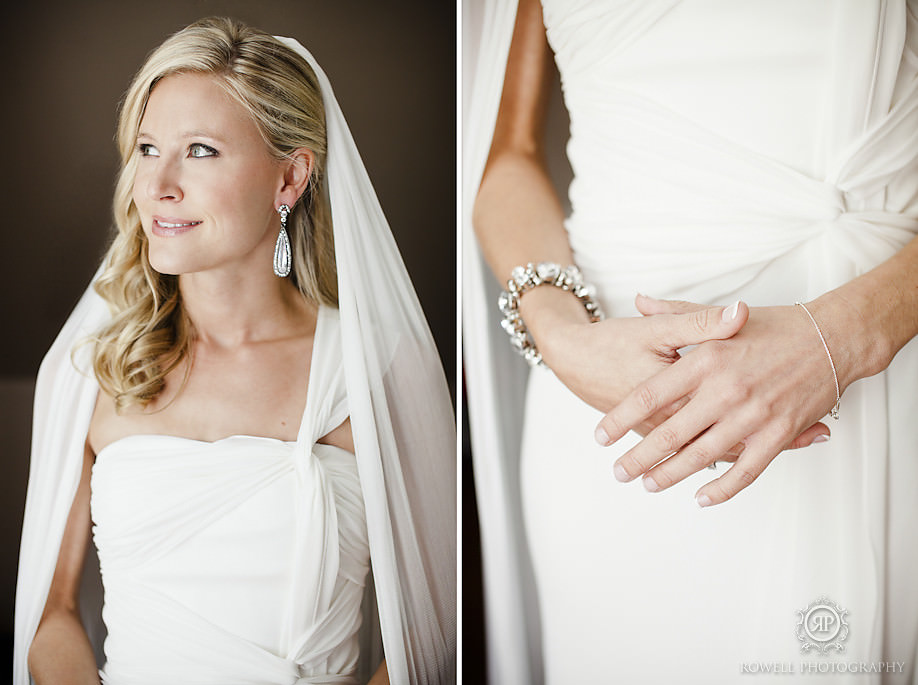 stunning bridal getting ready portraits Karen & Ross   Bigwin Island Golf Club, Muskoka