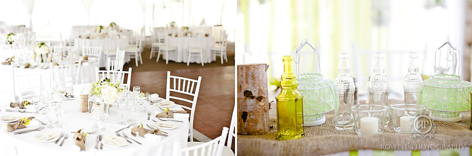 wedding reception decor muskoka weddings 2 Natalie & Phil   Delta Rocky Crest Resort   Muskoka, ON
