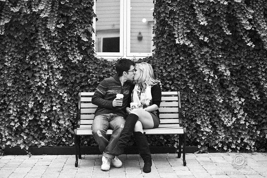 romantic black and white wedding photos Nick & Caitlin   Niagara on the Lake Engagement