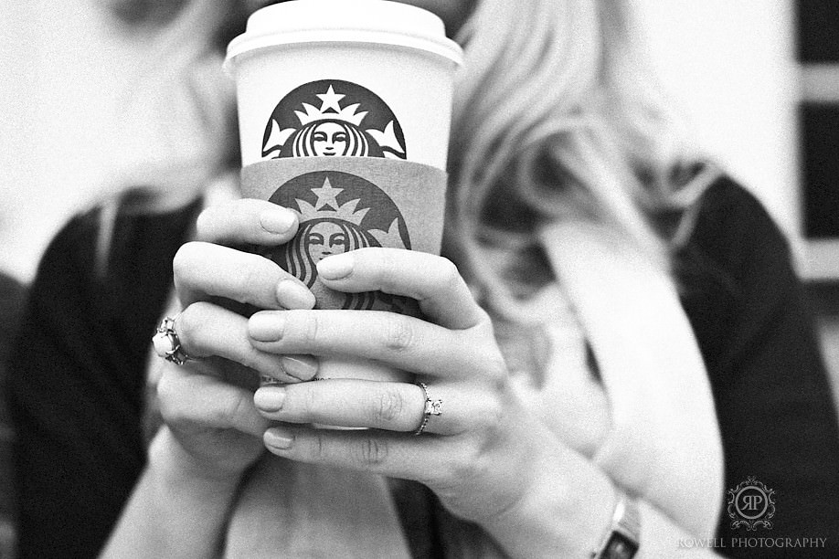starbucks engagement photo Nick & Caitlin   Niagara on the Lake Engagement