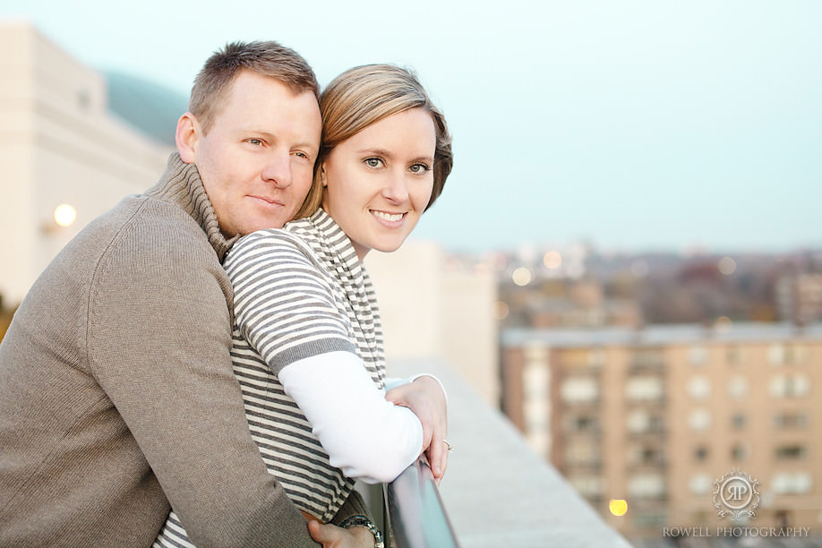 stunning rooftop engagement Rebecca & Charlie   Don Mills Engagement   ON