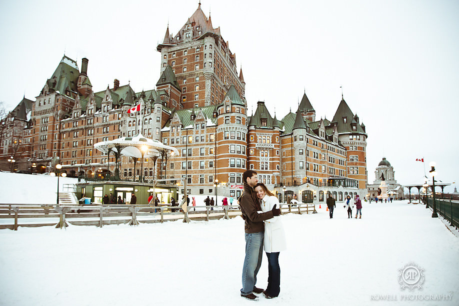 chateau frontenac destination engagement Chateau Frontenac Pre Wedding Engagement Photography
