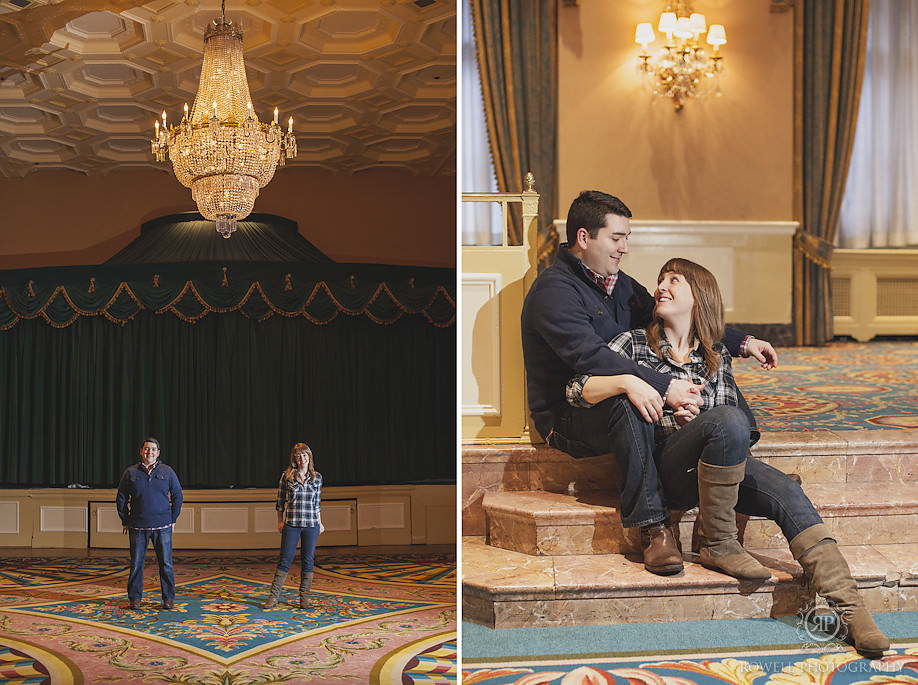fairmont royal york engagement photos Put a ring on it
