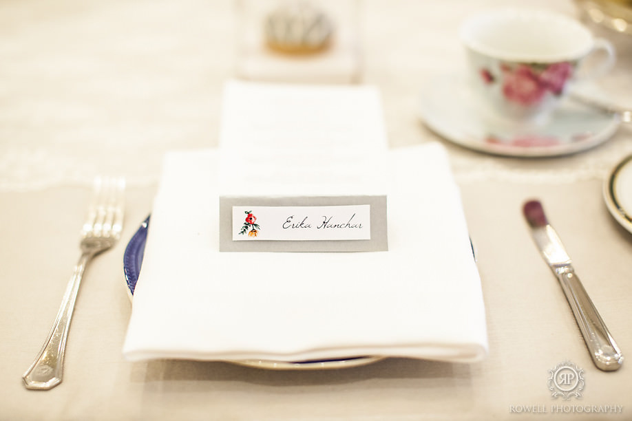 custom made place cards art by alana rowell Our Beautiful Fairmont Royal York Wedding