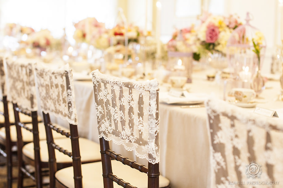 gorgeous lace cap chair covers Our Beautiful Fairmont Royal York Wedding