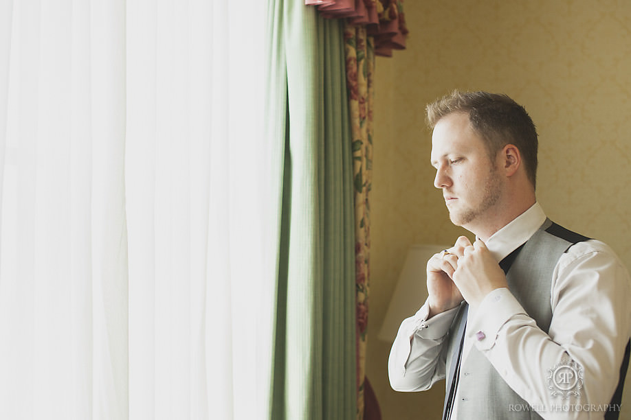 groom getting ready Our Beautiful Fairmont Royal York Wedding