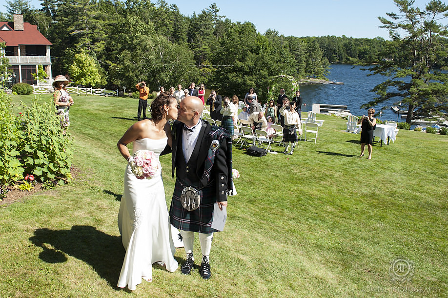 best kiss scottish wedding ceremony Trisha & James   Their Windermere House Wedding Ceremony