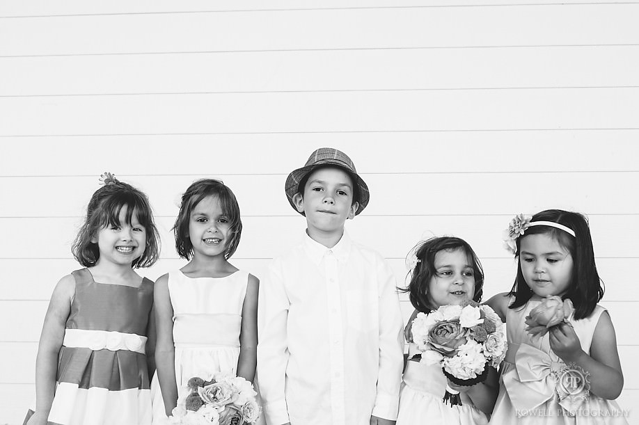 black and white kids wedding portraits Trisha & James   Their Windermere House Wedding Ceremony