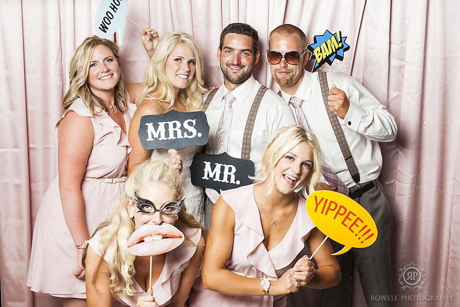fun photobooth wedding Adam & Melissa   Wakefield, Quebec Le Belvedere Wedding