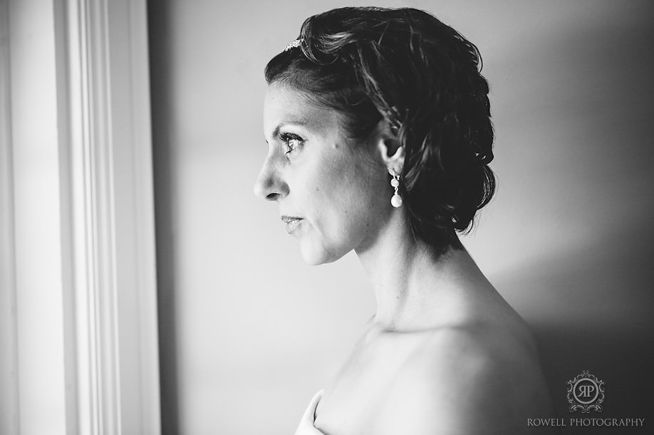 gorgeous black and white bridal portraits Windermere House Wedding Ceremony