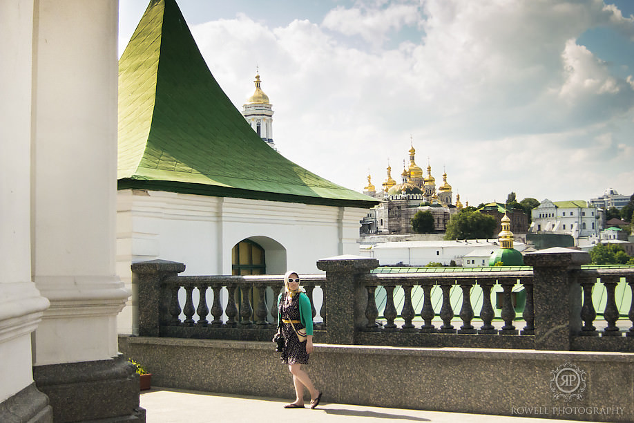 gorgeous girl visiting kievo pecherska lavra kiev ukraine All roads lead to Hostiv, Ukraine.