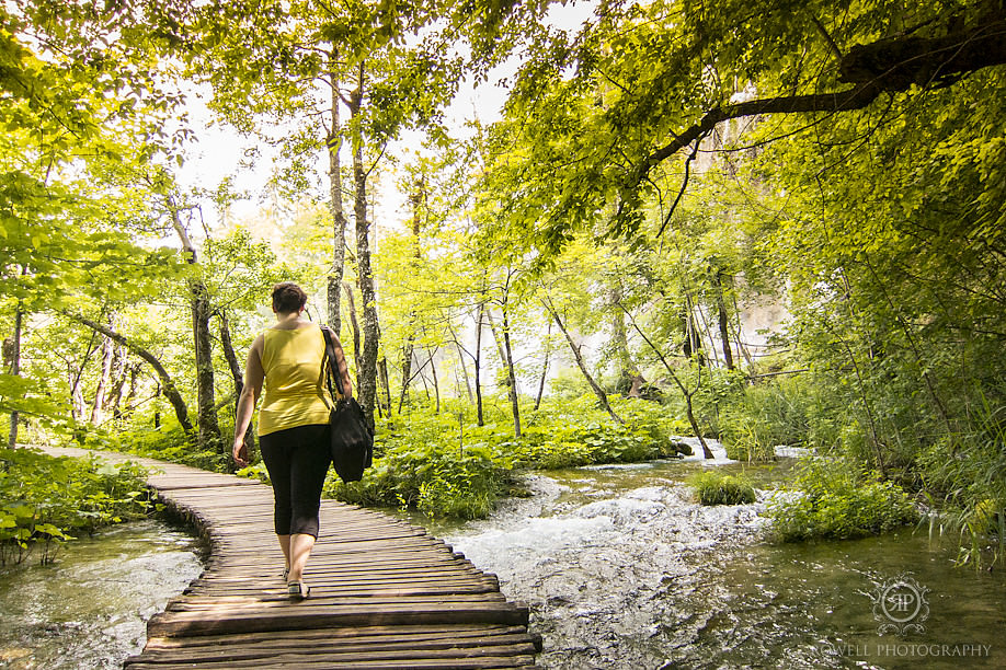 walking path plitvice waterfall park Honeymoon in Croatia