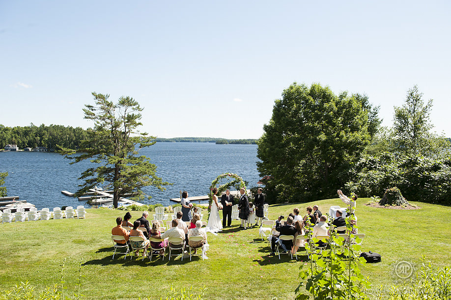 wedding ceremony overlooking lake muskoka Windermere House Wedding Ceremony