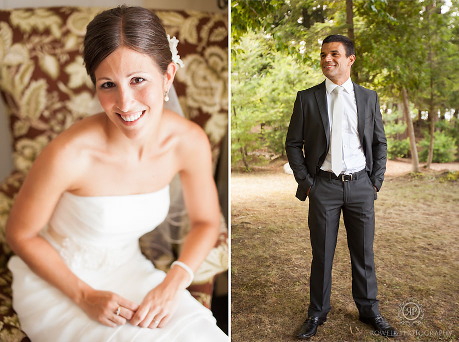 bride and groom simple classic portraits Windermere House Wedding, Muskoka Ontario