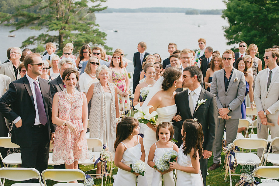 candid simple group photo Windermere House Wedding, Muskoka Ontario