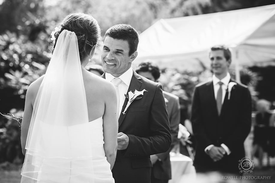 couples wedding vows Windermere House Wedding, Muskoka Ontario