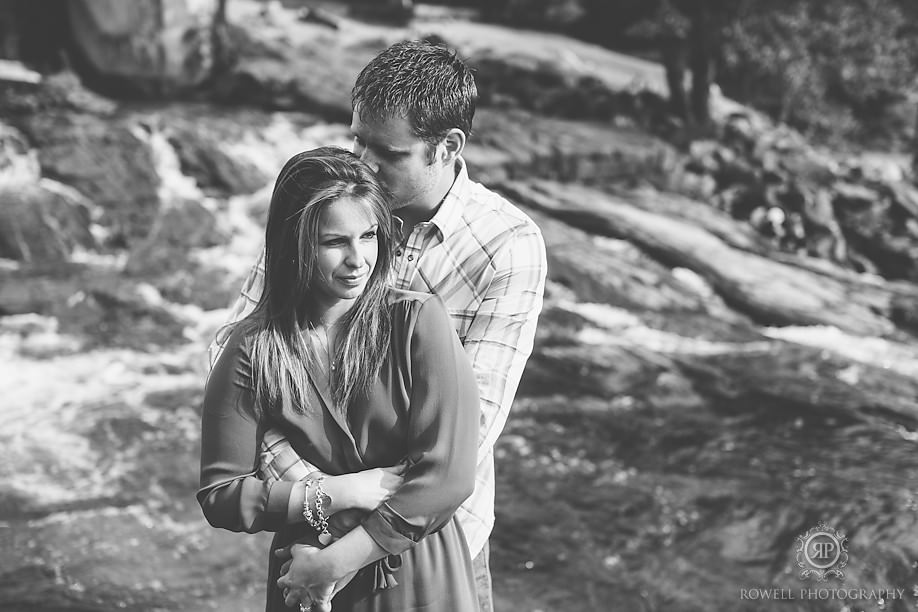 engagement session at bala falls Keegan & Mandy   Romantic Muskoka Engagement