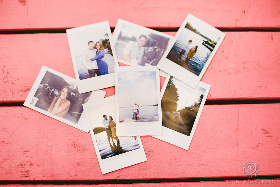 polaroids by rowell photo Keegan & Mandy   Romantic Muskoka Engagement