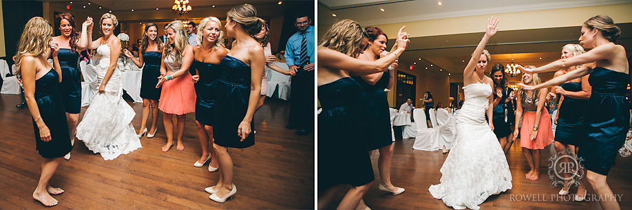 bridemaids dancing barrie weddings The Barrie Country Club Wedding of Rebecca & Chuck