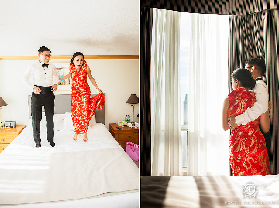 fun wedding couples photos Metropolitan Hotel Toronto Wedding of Amelia & Andrew