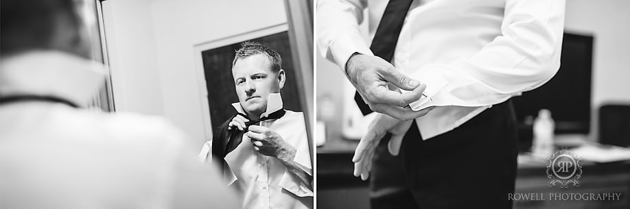 groom getting ready The Barrie Country Club Wedding of Rebecca & Chuck