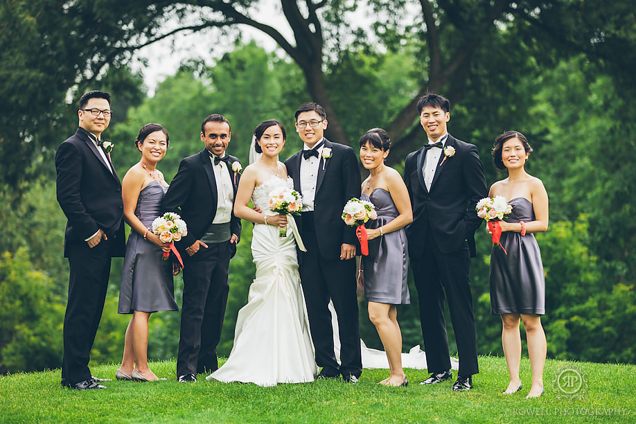 markland golf club wedding party photos Metropolitan Hotel Toronto Wedding of Amelia & Andrew