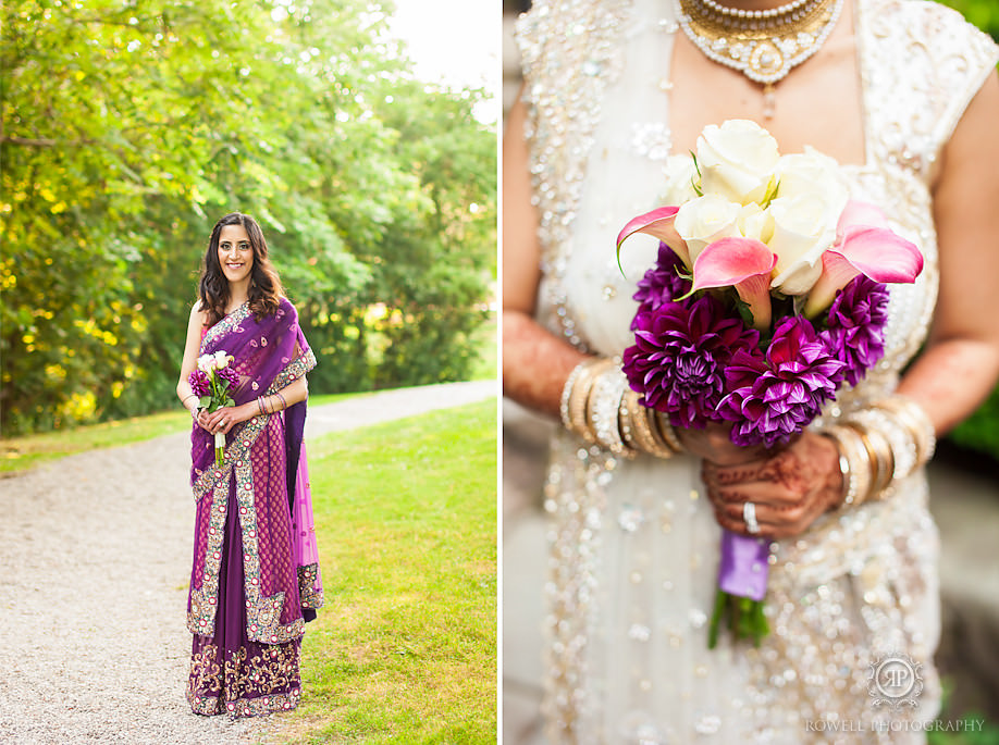 purple bridemaids dress indian wedding toronto Vaughan House Wedding   Estates of Sunnybrook