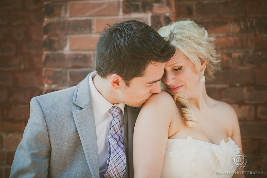 elegant wedding photos at torontos distllery district