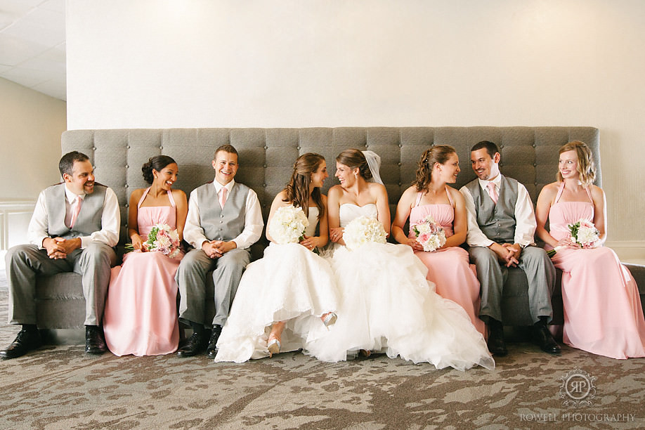 pink and grey wedding party barrie ontario Horseshoe Resort Wedding   Heather & Laura