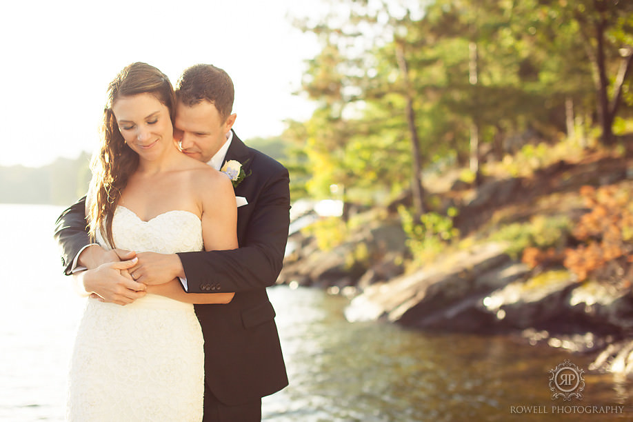 besutiful bride and groom photos muskoka weddings Touchstone on Lake Muskoka Resort Wedding   Adrienne & Rob
