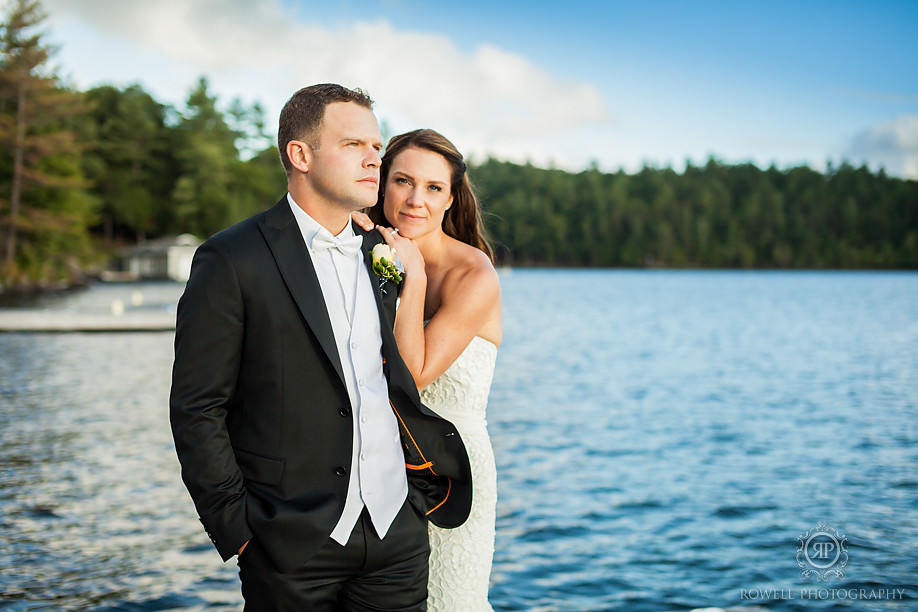 bride and groom portraits touchstone resort Touchstone on Lake Muskoka Resort Wedding   Adrienne & Rob