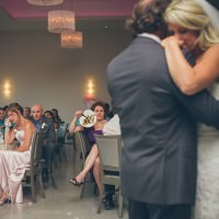 Quebec photographer captures emotional father daughter dance at Le Belevedere in Wakefield.