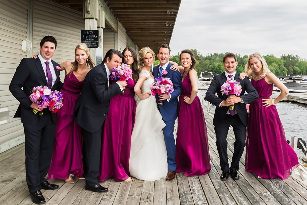 best bridal party portraits in muskoka